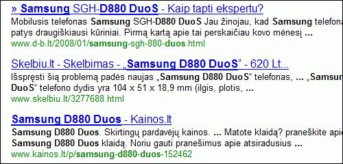 Apkarpyti Google paieškos rezultatai - nebe spemas!