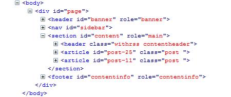 HTML5 struktūra